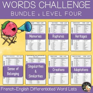 Vocabulary Word Lists Bundle Level 4