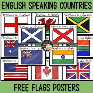 English Speaking Countries Flags Freebie