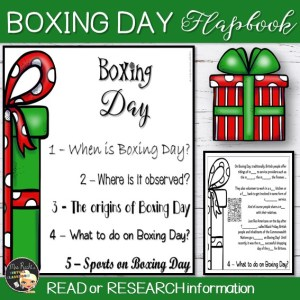 Boxing Day Flapbook
