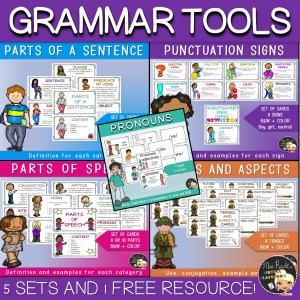 Grammar Concepts Flashcards Bundle