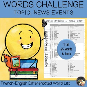 Vocabulary Word List News Events