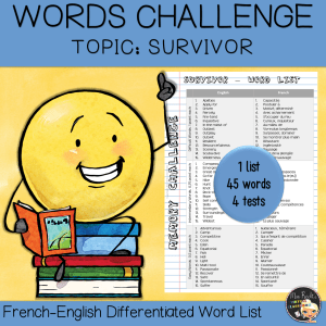 Vocabulary Word List Survivor