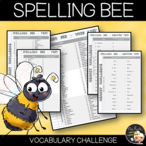 Vocabulary Word List Spelling Bee