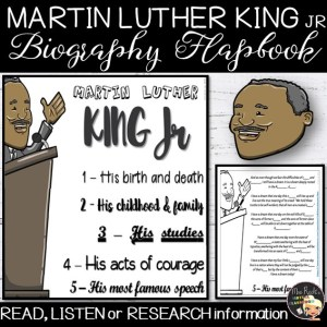Martin Luther King Jr Flapbook