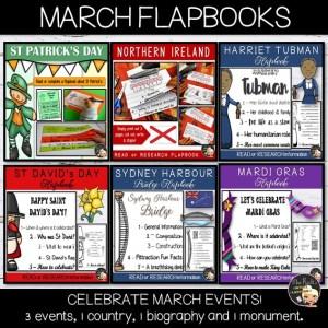 March Events Flapbook Bundle