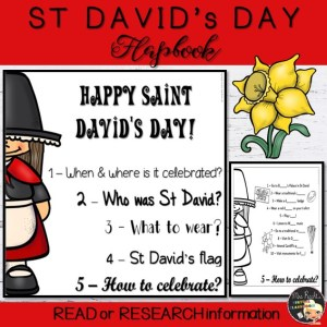 St David's Day Flapbook