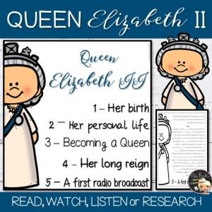 Queen Elizabeth II Flapbook