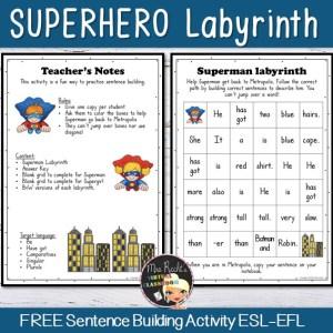 Grammaire Superhero Labyrinth