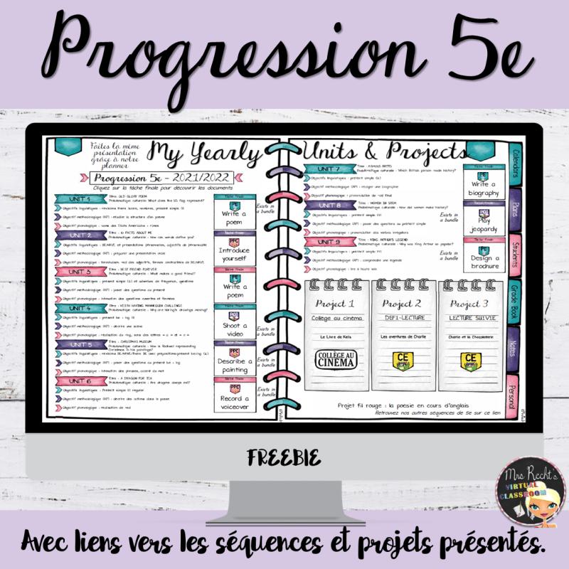 Progression 5e 2021-2022