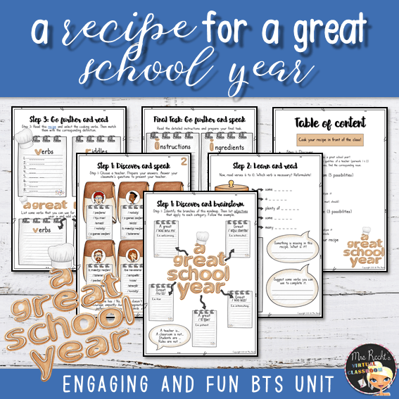 Séquence Recipe for a great school year 5e