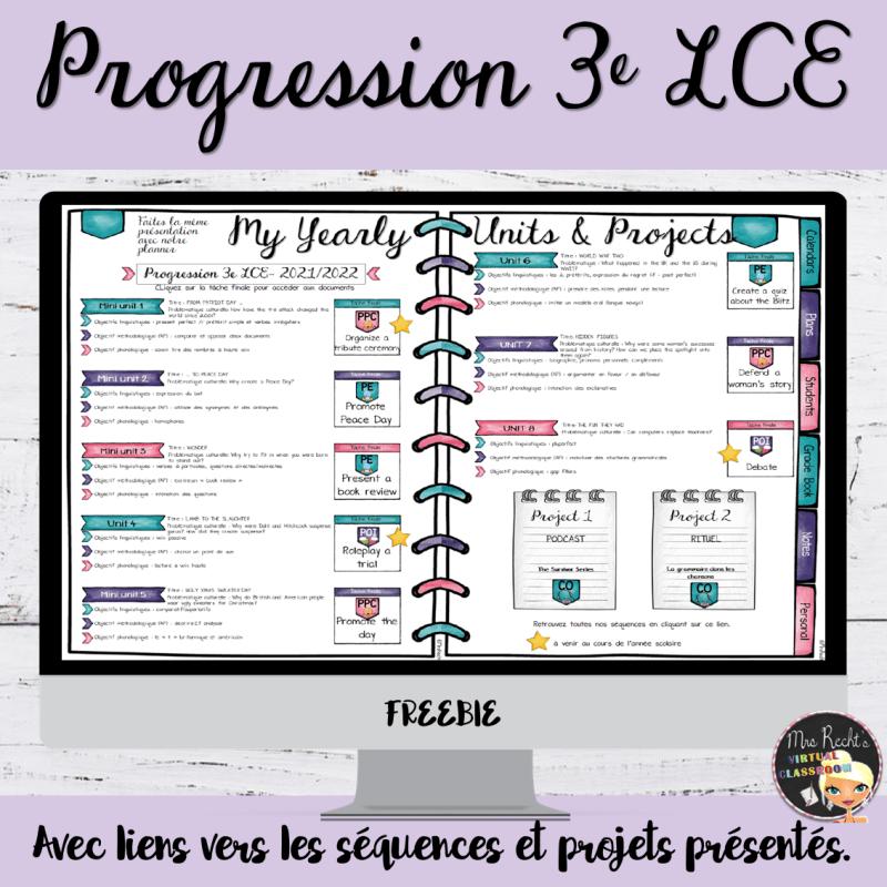 Progression 3e LCE 2021-2022
