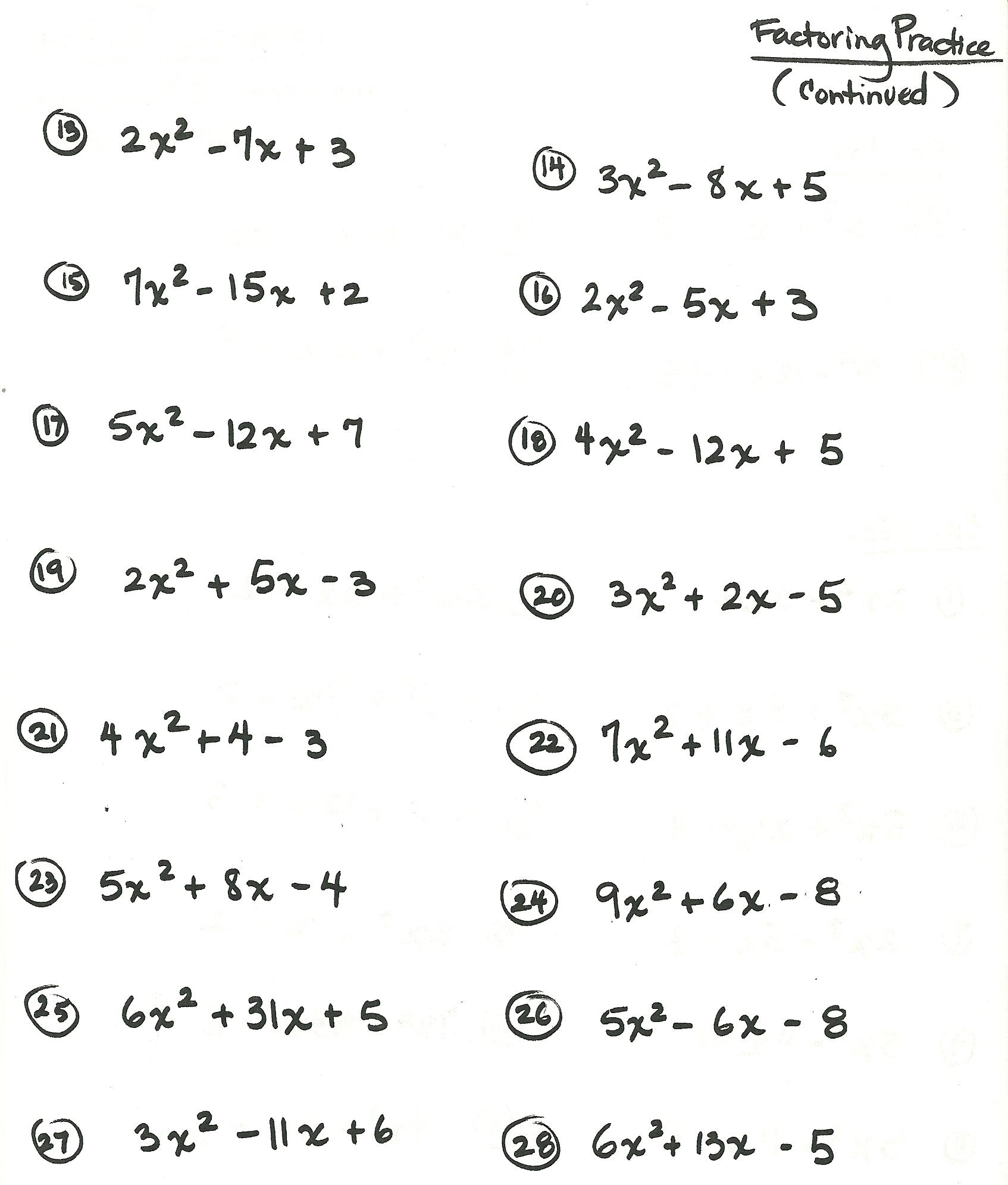 hight resolution of algebra worksheet