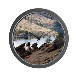 Balancing Rocks Of Oregon Wall Clock