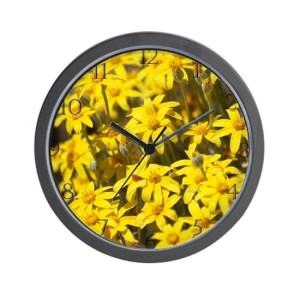 High Desert Wildflowers Wall Clock