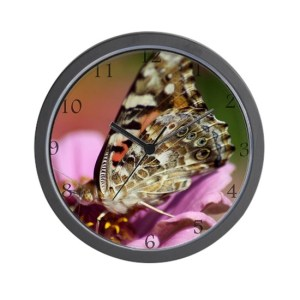 West Coast Painted Lady Butterfly Wall Clock