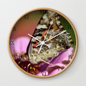 West Coast Painted Lady Butterfly Clock