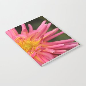 Dahlia Flower In The Flower Bed Notebook