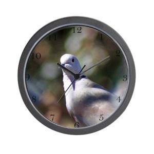 Portrait of a Dove Wall Clock