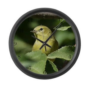 Yellow Warbler Bird Large Wall Clock
