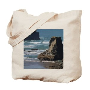 Pacific Ocean Beach Scene Tote Bag
