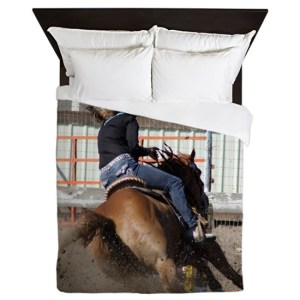 Barrel Racer Rodeo Action Queen Duvet Cover