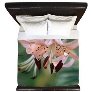 Bloom of the lily flower King Duvet Cover