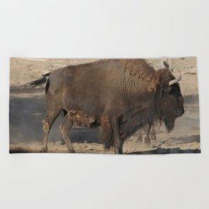 Buffalo Bull Beach Towel