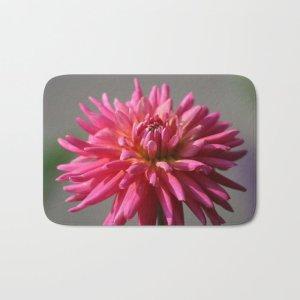 Colorful Dahlia Flower Bloom Bath Mat