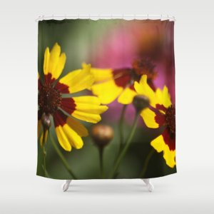 Colorful Daisy Flowers Shower Curtain