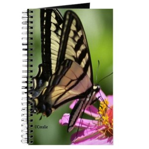 Colorful Yellow Swallowtail Butterfly Journal
