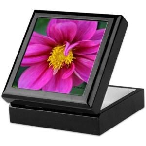 Dahlia Flower Bloom Keepsake Box