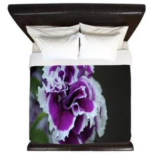 Double Petunia Flower Bloom King Duvet Cover