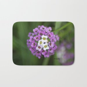 alyssum flower bloom Bath Mat