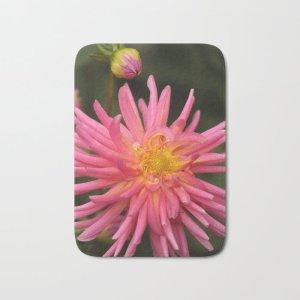 dahlia flower in the flower bed Bath Mat