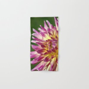flashy dahlia flower Hand & Bath Towel