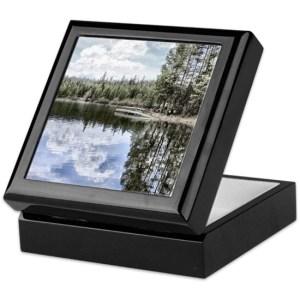 design of water reflections keepsake box