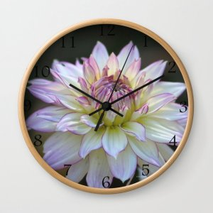 Colorful Dahlia Flower Bloom Wall Clock