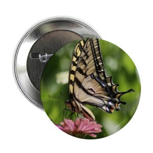 Colorful Yellow Swallowtail Butterfly 2.25″ Button