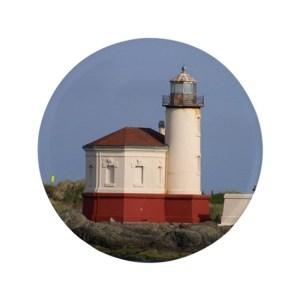 Oregon Coast Lighthouse 3.5″ Button