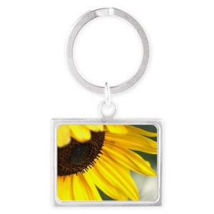 Personality of The Sunflower Landscape Keychain