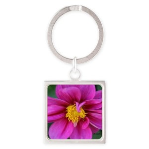 dahlia flower bloom Keychains