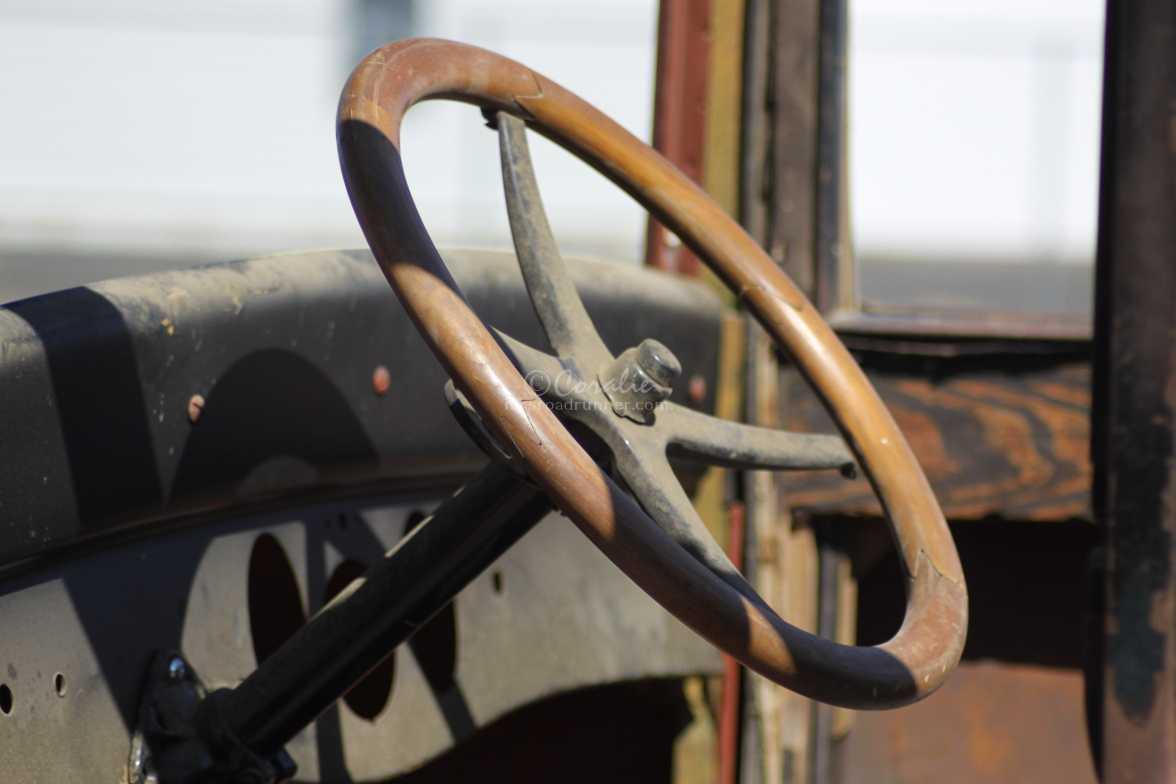 1925 Chevrolet pickup wood steering wheel 244