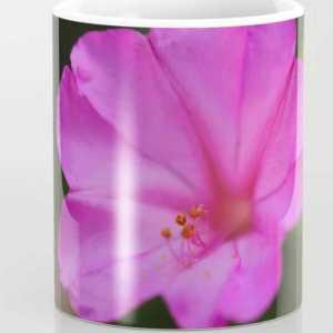 Four Oclock Flower In Pink Coffee Mug