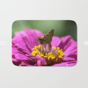 Skipper Butterfly In The Garden Bath Mat