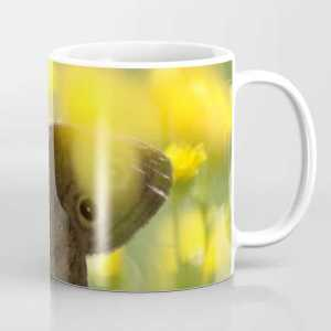 Colorful Common Wood-nymph Butterfly Coffee Mug