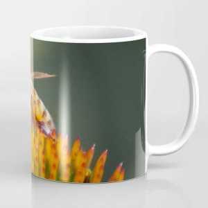 honeybee on cone flower 656 Coffee Mug