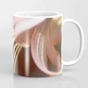 Micro of a Lily Flower in Bloom Coffee Mug
