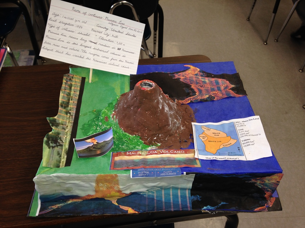 6th Grade Volcano Project Pictures