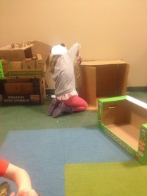 Building a house at the kids museum