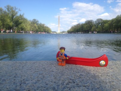 Ready to cruise the reflecting pool